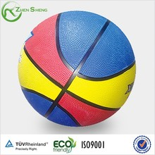 Zhensheng Manufactured Multi-Color Recreational Rubber Basketballs