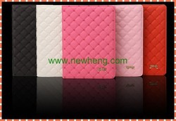 sheep skin folio leather case for ipad mini2/3, flip leather case for ipad mini2/3