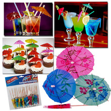 TROPICAL COCKTAIL DRINKS PARTY UMBRELLAS CAKES CUPCAKES DESSERTS ACCESSORIES