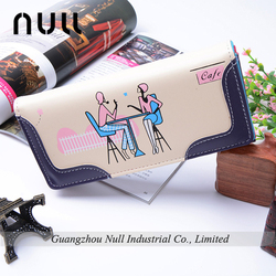 2015 new design nature PU leather Lady wallets