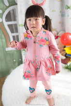 XR-8108 type A skirt Chinese stocklot cotton fabric toddler girls fancy dresses