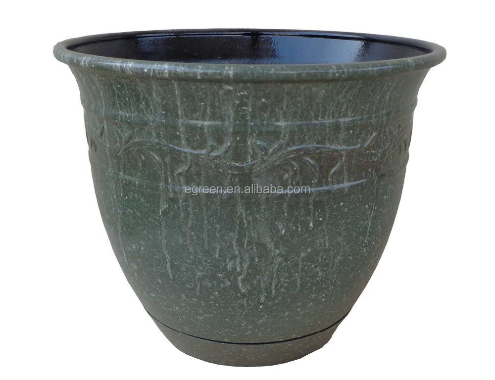 12 39 39 ceramic finished plastic flower pot indoor and