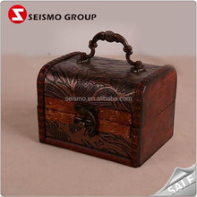 Decorative Timber Wooden Storage Treasure Chest with Lock