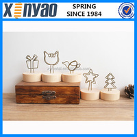 Factory price lovely customer wooden Photo Memo Clip Holder Promotional Note Clip