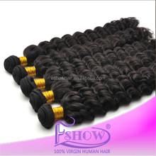 Cheap Short Deep Wavy Unprocessed Virgin Indian Remy 100% Human Hair Weave 7a