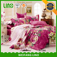 Wholesale dandelion printed bedding set/ribbon embroidery bedding set/embroidery baby bedding set