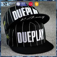 New and hot top quality custom black snapback hat for wholesale