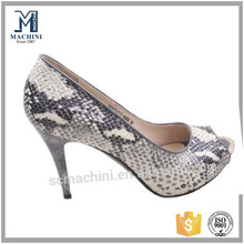 All kinds of ladies animal skin shoes ladies fish skin leather shoes