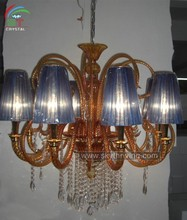 fabric shade multicolor murano glass decoration lighting