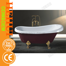 2RC-D6708 one person hot tub and cheap plastic portable bathtub for adults with wooden base bathtub