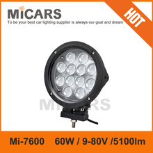 7 inch 60w 5100lm CREE LED driving light