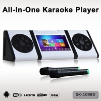 Mini portable Karaoke machine with USB SD HDD built in wifi for home audio entertainment