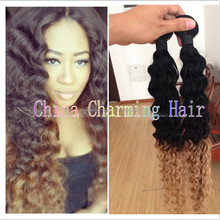 1b 27 ombre deep wave two tone human hair virgin brazilian hair weave