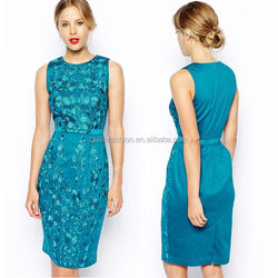 2014 new arrival embroidered high quality dresses for middle aged women