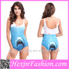 Shark Printed One Piece Swimsuit Women