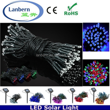 2016 rgb single color Festival outdoor decoration 150LEDS String LED Solar Ornament exterior party fairy light net