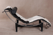 China furniture factory living room luxury chaise lounge chair LC4 cowhide