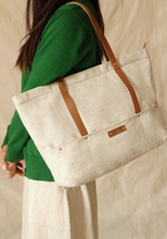 Yiwu online shopping fashionable durable linen handbag