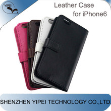 2015 New PU Leather Case for iPhone 6 4.7 inch Cheap Mobile Phone Cases