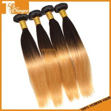 Top Fashion 6A Silky Straight Mongolian Two Tone 1b 27 Hair Color