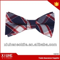 Popular British style pre-made plaid bow ties