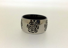 flower texture stainless steel ring terminal