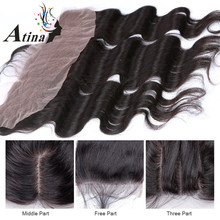 "Top Quality Unprocessed Brazilian Lace Frontal Closure 13x4 Body Wave 8""-20"" In Stock Ear To Ear Full Lace Frontal Hair Pieces"