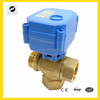 DC3-6V low voltage 3 way mini motorized control ball valve for solar water heating system