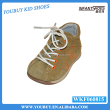 Lace-up guangzhou baby shoes, leather bulk wholesale shoes