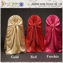 China jiaxing supplies satin cheap blush wedding chair cover