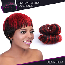 Top Grade Short Virgin African Colored Hair Weave Style