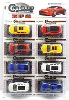 Pull back car painting open the door 8pcs Children's Toy