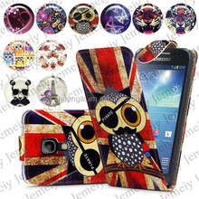 For Samsung Galaxy S4 Mini I9190 Folio Print Flip Leather Case Phone Bag Back Cover Bags
