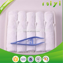 white airplane disposable cold towels hot scented