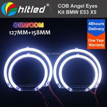Upgrade DC 12V / 127mm + 158mm Diameter COB LED Angel Eyes Kit for BMW E53(X5) Facelift Conversion