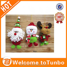 2015 Christmas Decoration Plush santa snowman moose Hanging ornament