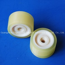 yellow 250mm polyurethane wheels PU roller wheel