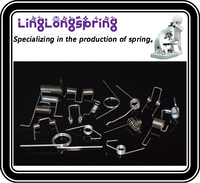 Double torsion spring with powder coated or Zinc plated