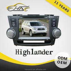 auto radio gps car dvd 2 din for toyota highlander