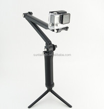 3 Way Adjustment Handheld Monopod Pole Tripod Action Camera Adjustable Mount For GoPro 4 3+ 3