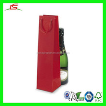C104 Laminated Bottle Gift Bags, Attractive Fancy Paper Bag Handle, Wine Bottle Paper Gift Bag Wholesale