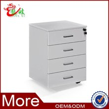 modern furniture removable drawer cabinet 4 drawer mobile pedestal
