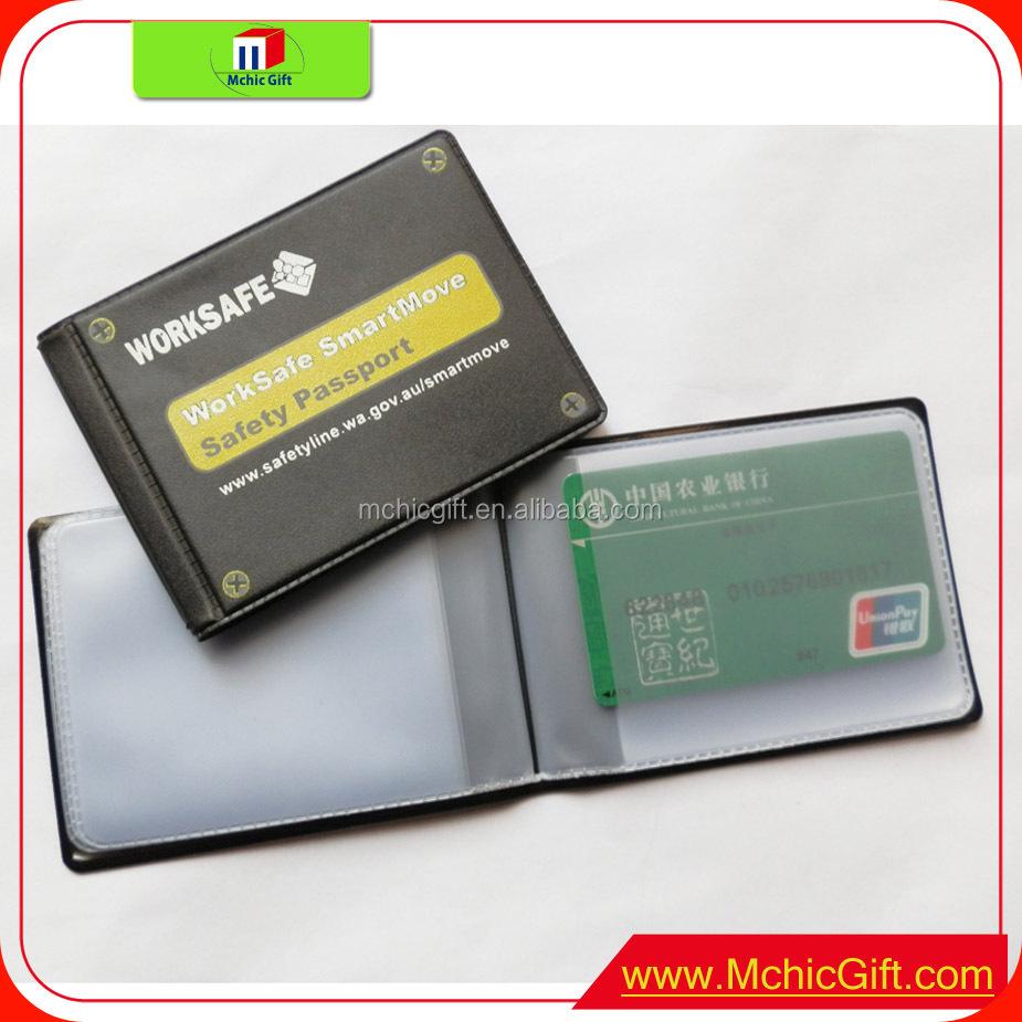 Custom Cheap Plastic Blue Shinny Pvc Business Card Holder