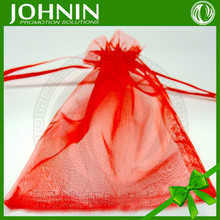 wholesale custom pure color drawstring Organza bag