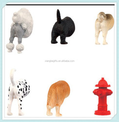 Resin animal butts promotional fridge magnet