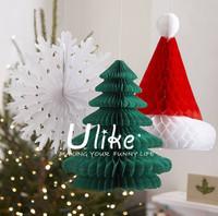 wholesale honeycomb christmas product, honeycomb hat, paper honeycomb