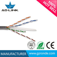 Factory wholesale Communication Cables 305m cat6 lan cable with 24AWG Single Jacket