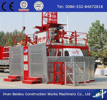 Good quality double cages construction passenger and material elevator/construction lifting hoist/material hoist/elevator