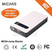mini size portable multi function rechargeable battery car jump starter