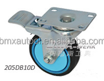5in. Silent Rubber Caster with Dual Brake